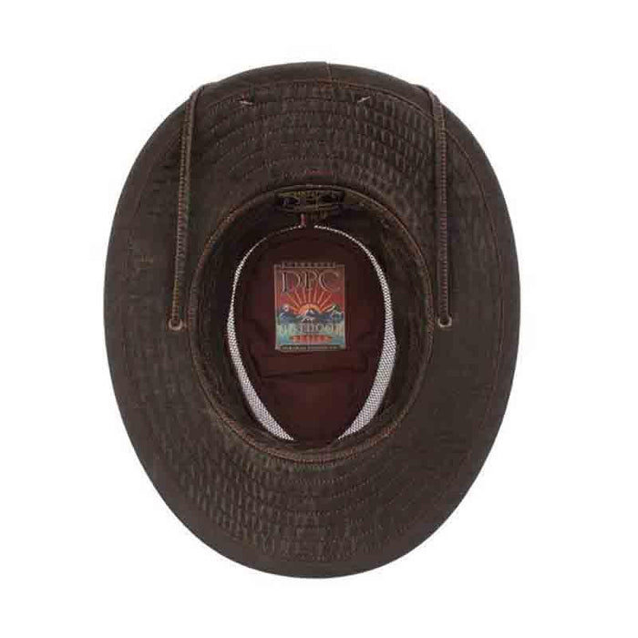 mc376 weathered cotton safari bucket ventilated crown dpc global hat inside