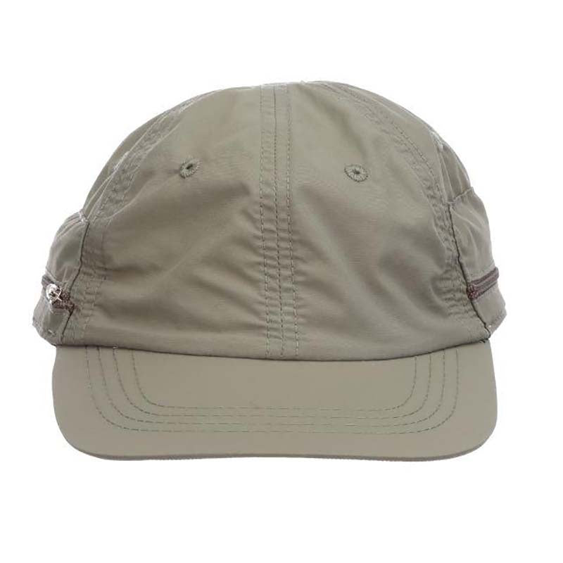 Supplex® Nylon Baseball Cap with Fold Away Sun Shield - DPC Global Hats