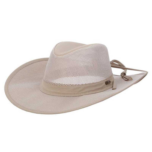 Stetson No Fly Zone Mesh Brim Safari Hat - Khaki