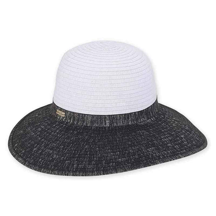 Metallic Shimmer Ribbon Backless Facesaver Hat - Sun 'N' Sand®