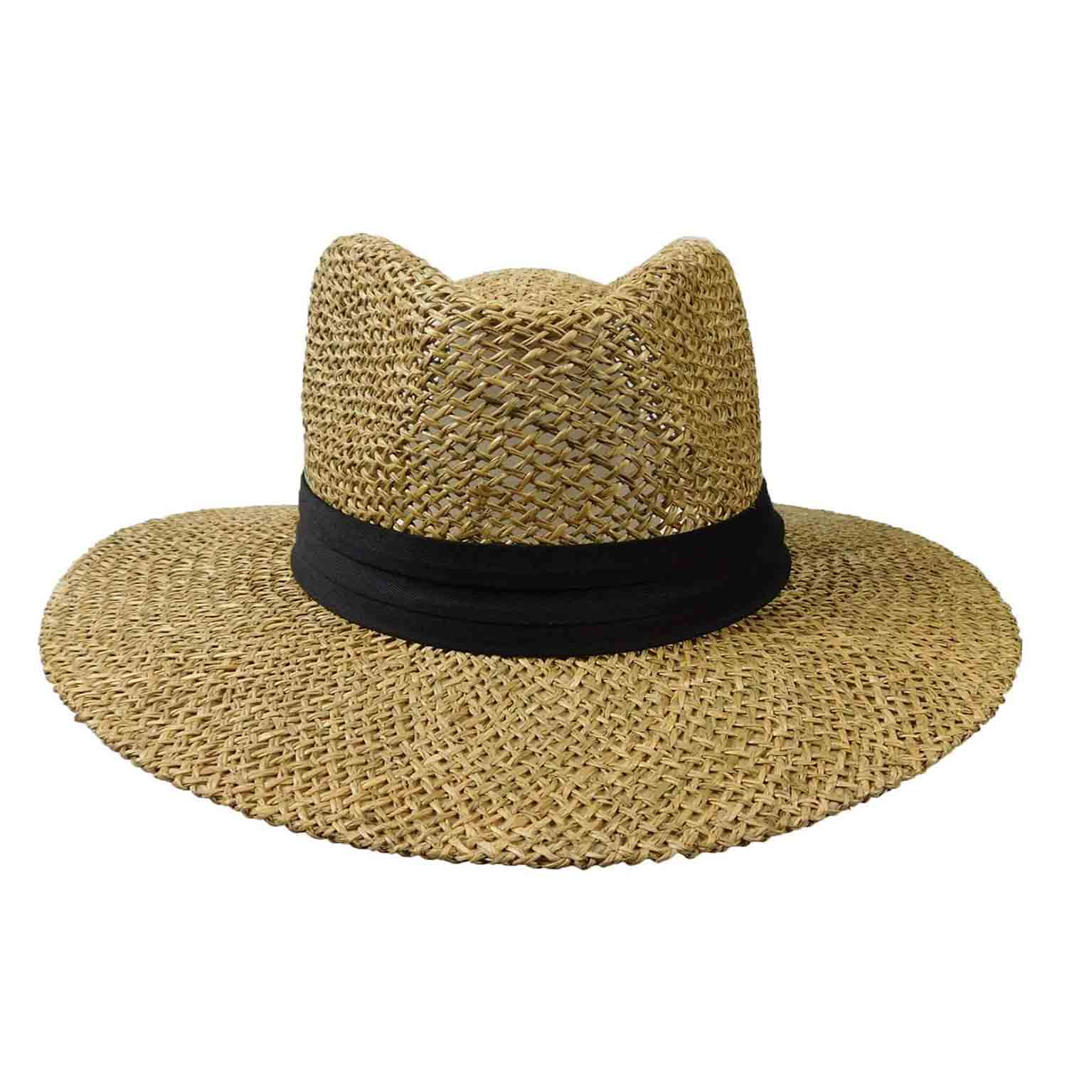 Sea Grass Safari Hat with Black Band - Milani Hats - SetarTrading Hats