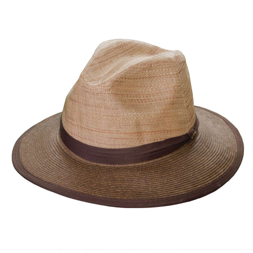 Scala Two Tone Raffia Safari Hat - SetarTrading Hats