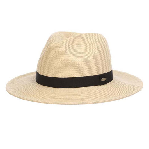 Fine Braid Safari Hat with Black Band - Scala Men's Hats