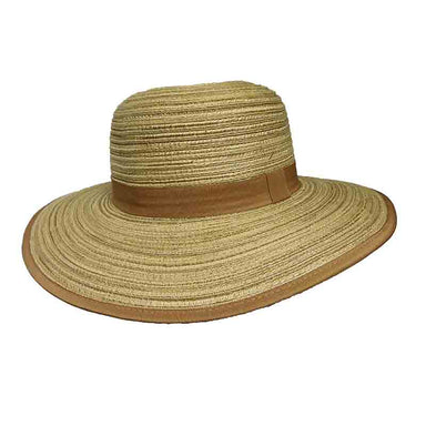 multitone polybrain sun hat milani hats black brown