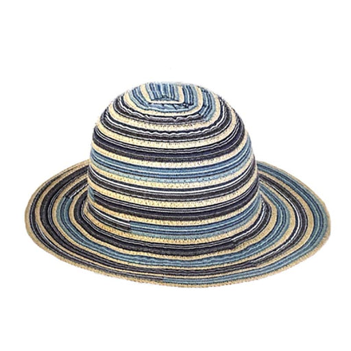 Petite Multi Tone Ribbon Hat with Chin Strap - Sunny Dayz™