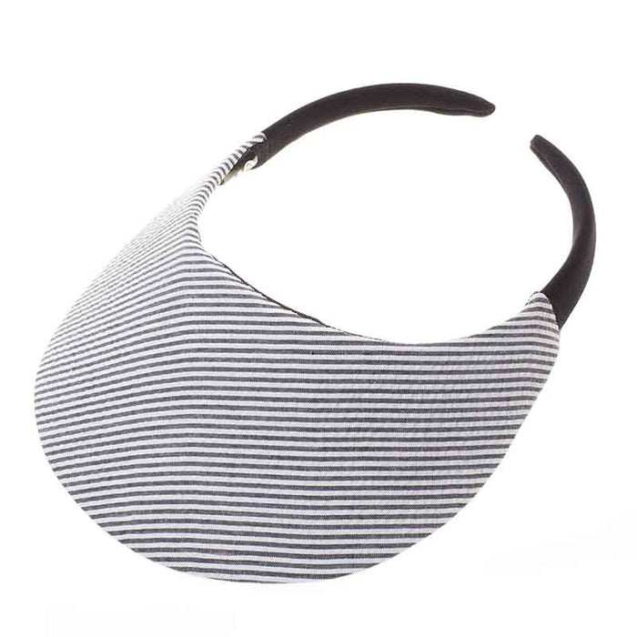 No Headache® Midsize Clip On Striped Sun Visor