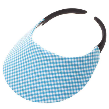 No Headache® Midsize Clip On Gingham Print Sun Visor