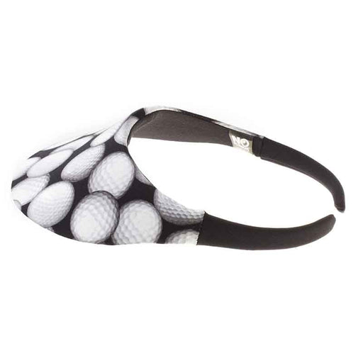 No Headache® Midsize Clip On Golf Print Sun Visor