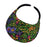 No Headache® Midsize Clip On Green and Black Floral Pattern Sun Visor