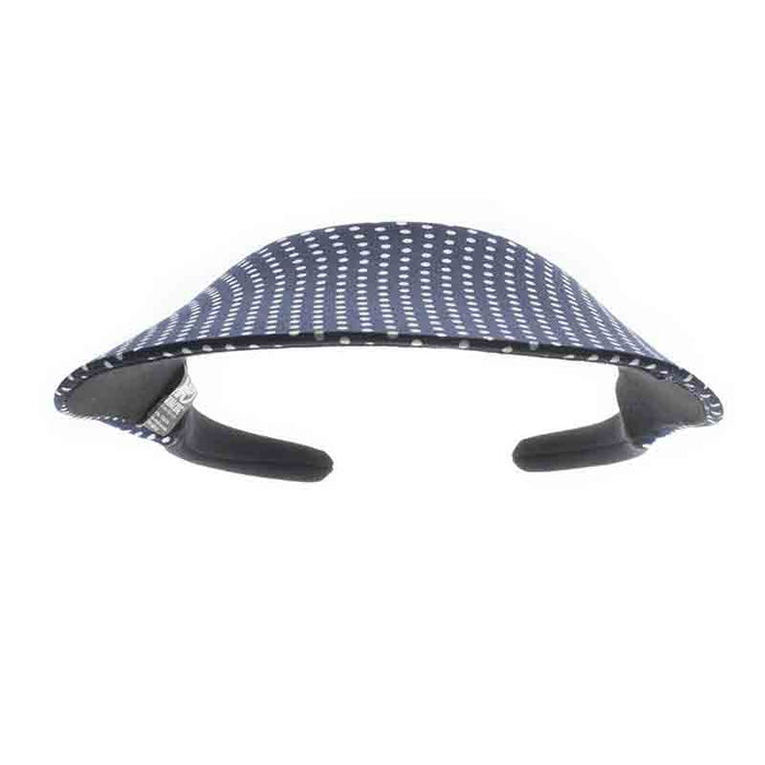 No Headache® Midsize Clip On Polka Dot Sun Visor