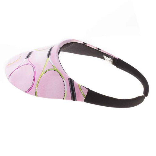 No Headache® Midsize Clip On Sun Visor - Pink Tennis Racquets