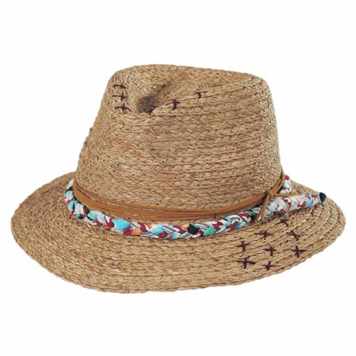 Ojai Raffia Straw Fedora - Brooklyn Hat Co