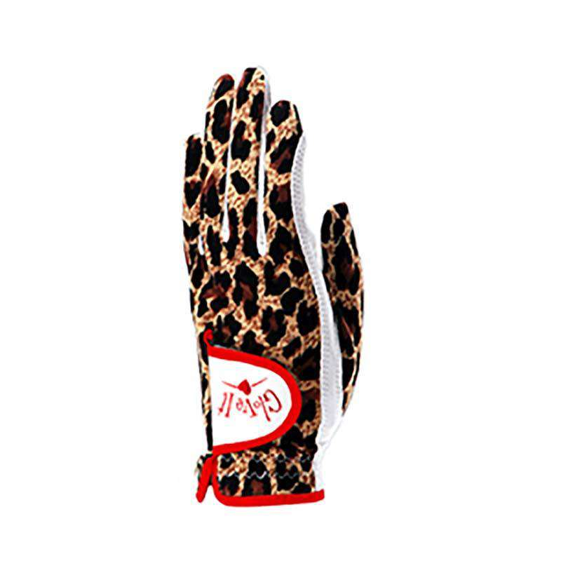 Leopard Golf Glove by GloveIt Ladies Left Hand Medium