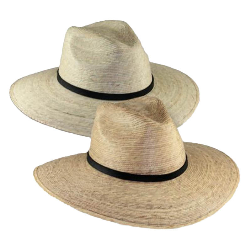 Large Brim Palm Leaf Safari Hat, 2XL - JSA