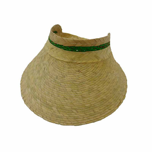 Child's Palm Straw Wide Brim Sun Visor - Texas Gold Hats
