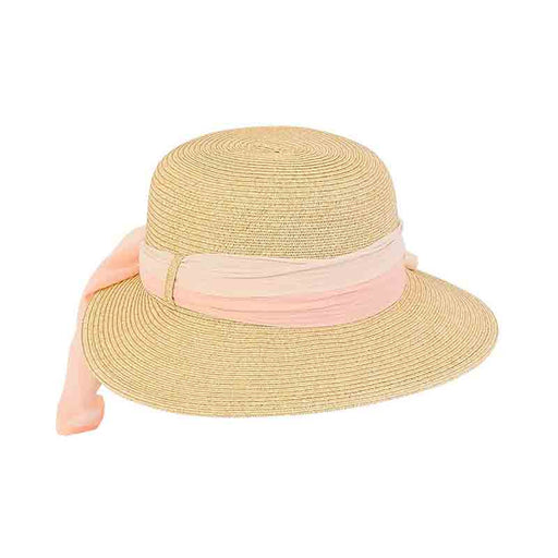 Petite Asymmetrical Brim Hat with Multitone Sash - Sunny Dayz™