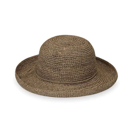 Petite Catalina Raffia Up Brim Hat by Wallaroo Hats