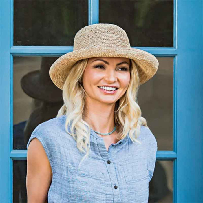 Petite Catalina Raffia Up Brim Hat - Wallaroo Hats for Small Heads