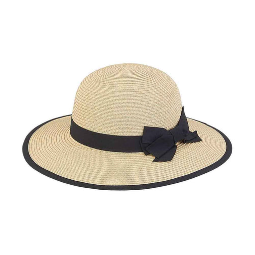 Petite Straw Sun Hat with Ribbon Bow - Sunny Dayz™