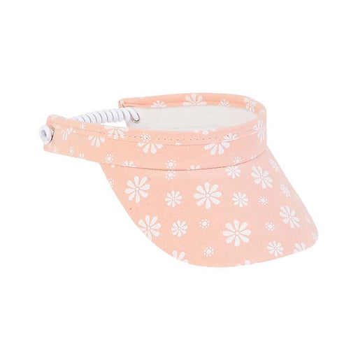 Petite Floral Print Cotton Sun Visor with Coil Closure - Sunny Dayz™