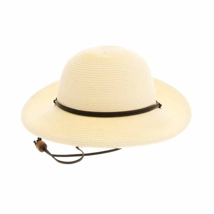 Petite Size Sun Hat with Chin Cord - Boardwalk Style