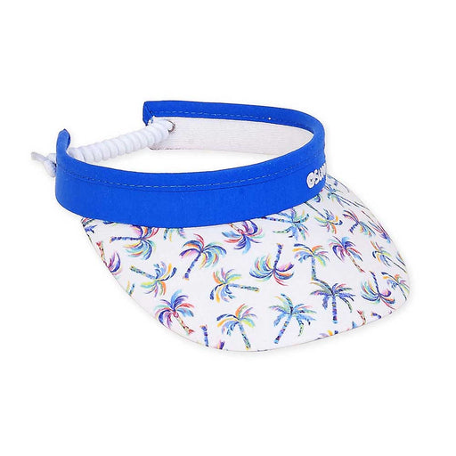 Petite Sun Visor with Coil Closure Funky Palm Trees - Sunny Dayz™