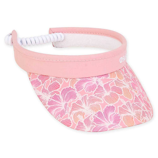Petite Sun Visor with Coil Closure Pink Hibiscus - Sunny Dayz™