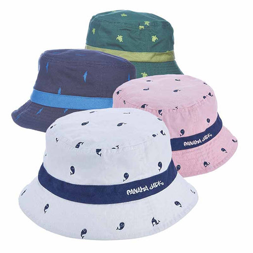 Panama Jack Kids Garment Washed Twill Marine Life Bucket Hat
