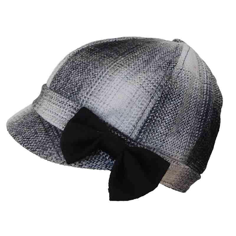 Plaid Jockey Cap with Bow by JSA