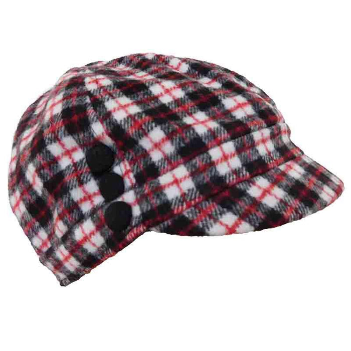 Plaid Wool Fleece Cap