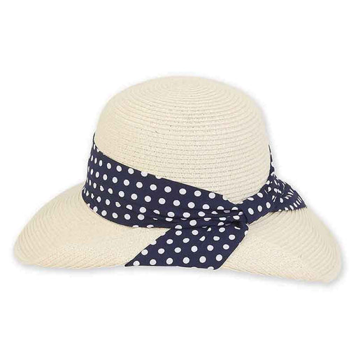 Polka Dot Band Pinned Up Brim Sun Hat  - Sun 'n' Sand®