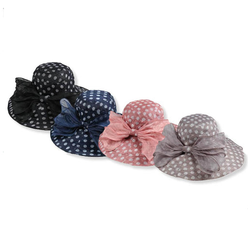 Wide Brim Polka Dot Summer Hat - JSA