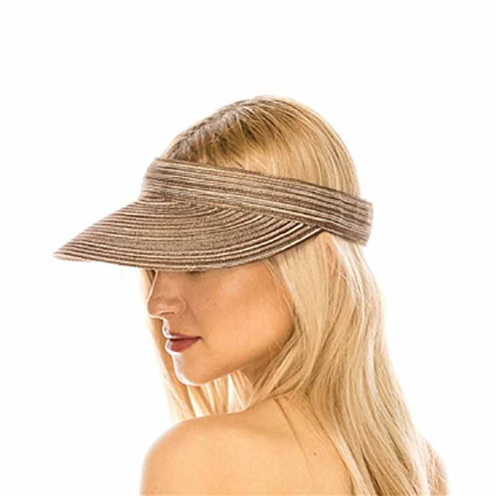Multitone Polybraid Sun Visor - Boardwalk Style