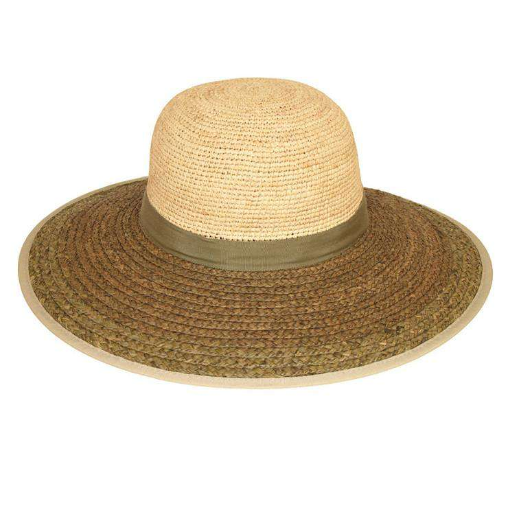 Two Tone Raffia Beach Hat with Bow - SetarTrading Hats
