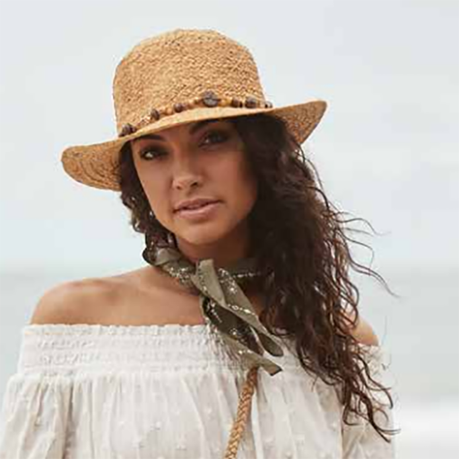 Women's Raffia Safari Pith Helmet Style Hat with Elephant Charm - Cappelli Straworld
