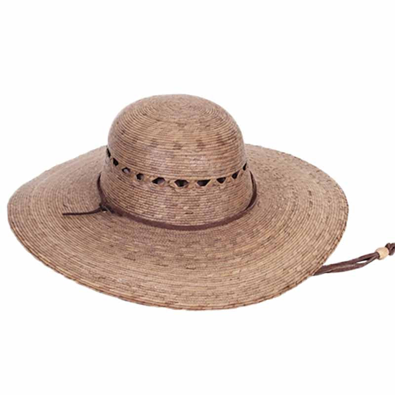 ranch hat for women elegant natural palm leaf handcrafted hat upf50 lattice vented crown