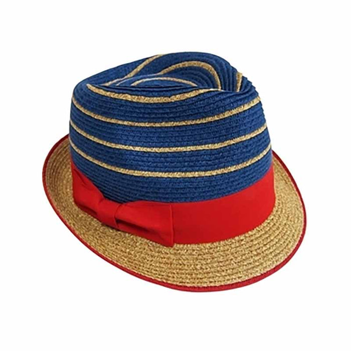 red white and blue patriotic striped fedora men women straw