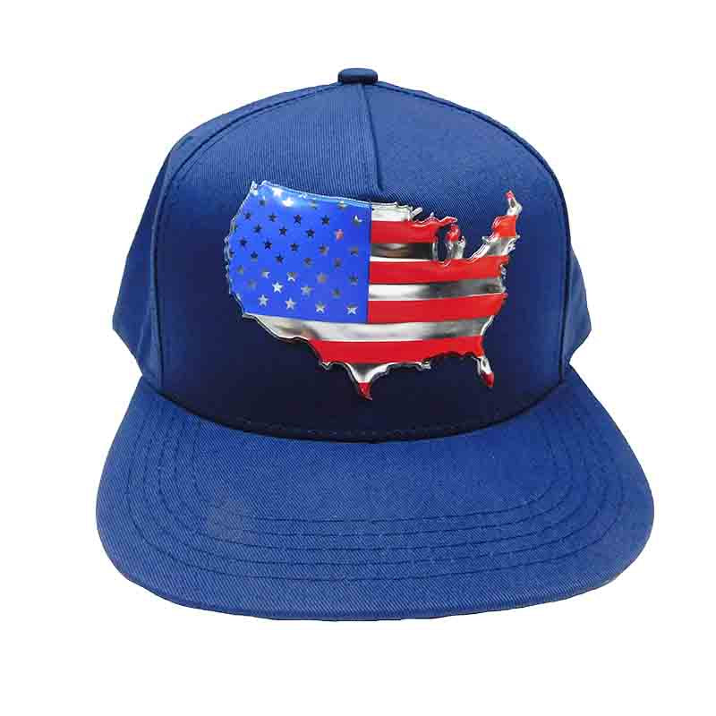 USA Flag Map Patch Snapback Caps
