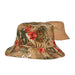 reversible floral print bucket hat fishing hat cotton men women brown karen keith hats