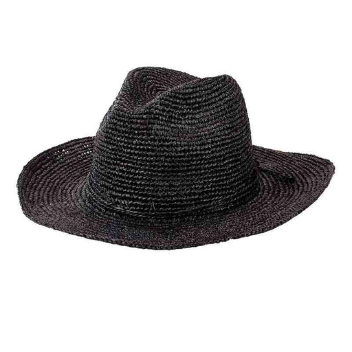 Women's Pinched Crown Crochet Raffia Fedora