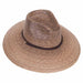 rio safari hat wide brim extra large size palm leaf natural hat upf50 tula hats