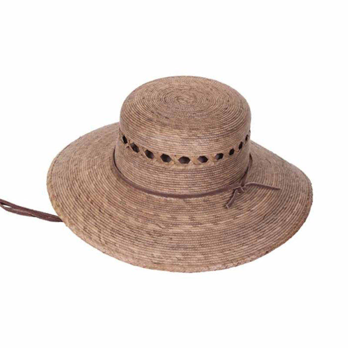 Rockport Lattice Vented Palm Leaf Ranch Hat with Chin Strap - Tula Hats