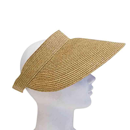 Roll Up Wide Brim Solid Color Sun Visor - Boardwalk Style