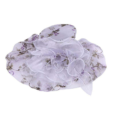 Rose Pattern Organza Hat