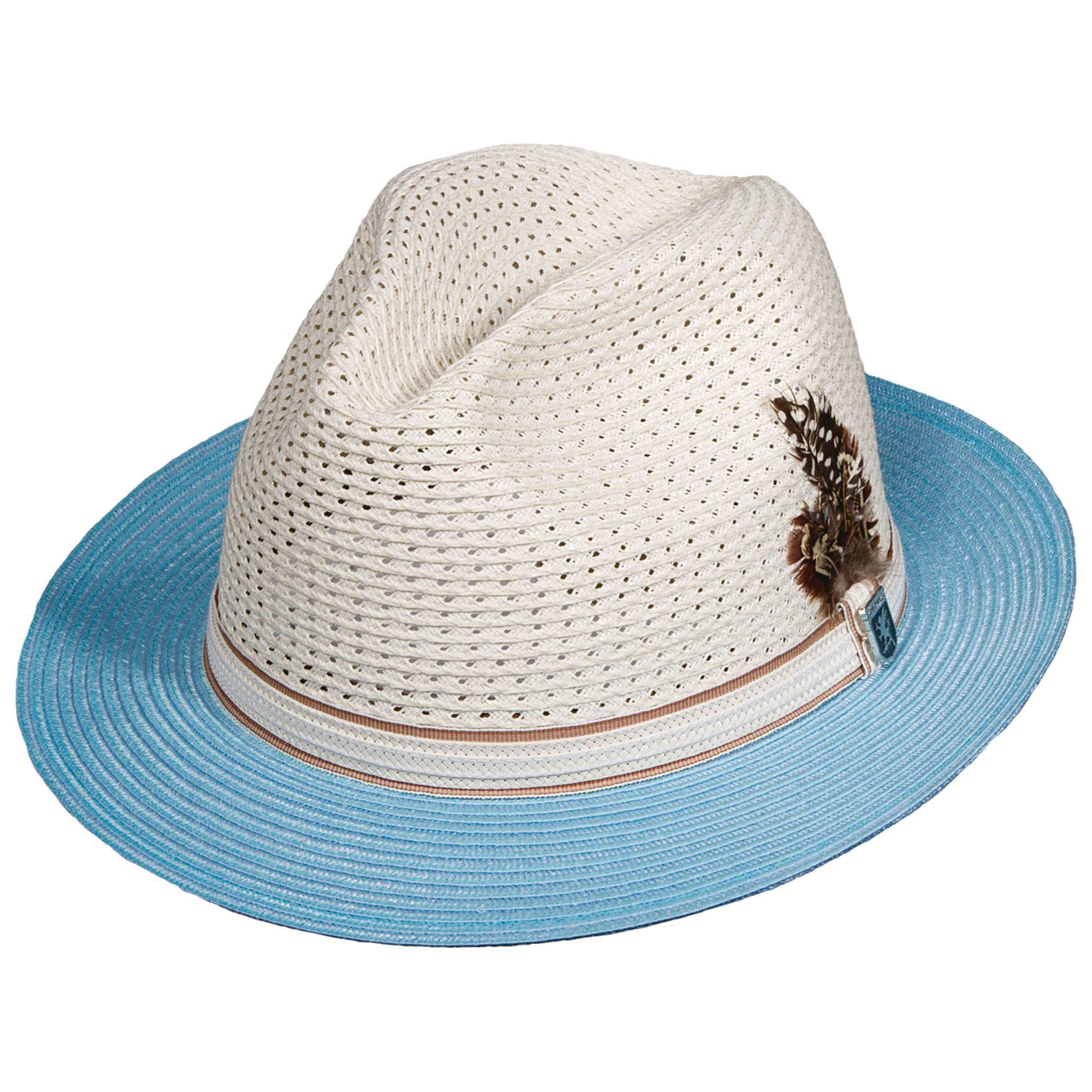 Stacy Adams Milan Braid Two Tone Fedora - SetarTrading Hats