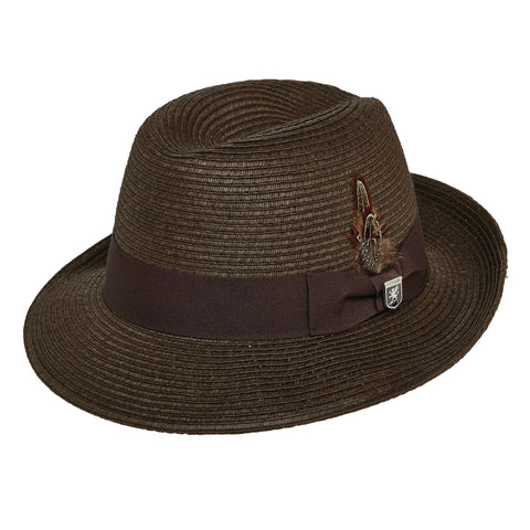 Stacy Adams Summer Fedora - Chocolate