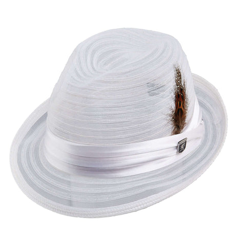 Stacy Adams Sinamay Mesh Fedora