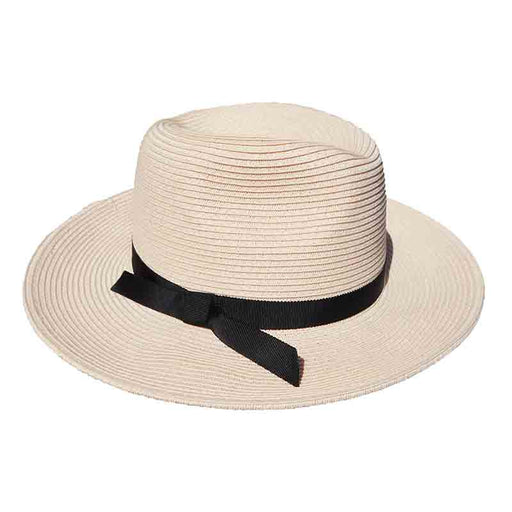 Safari Hat with Black Ribbon Tie - Jeanne Simmons