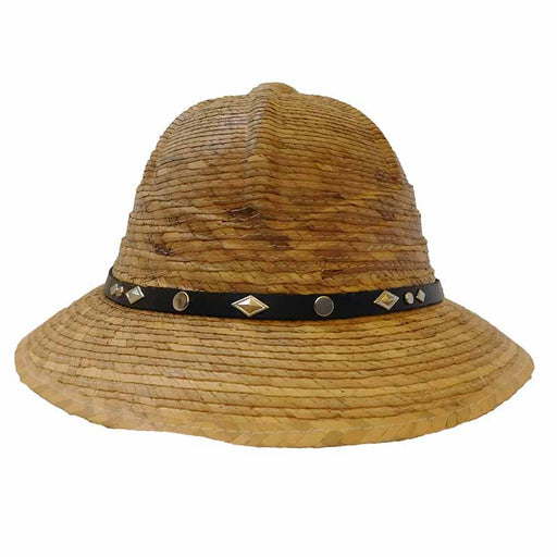 Palm Leaf Safari Pith Helmet - Texas Gold Hats