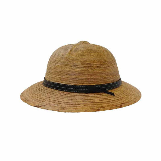 Junior Palm Leaf Safari Pith Helmet - Texas Gold Hats